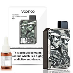 VOOPOO DRAG NANO FULL KIT - INK, Housing an impressive 750mAh battery, the VOOPOO DRAG Nano kit has enough power to keep you vaping all day long. If you're running low, the battery can be fully charged in just one hour with the USB cable included.